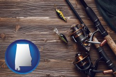 alabama fishing rods and reels