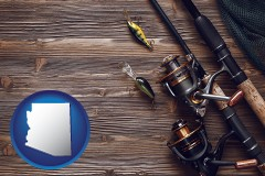 arizona fishing rods and reels