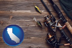 california fishing rods and reels