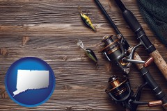 connecticut fishing rods and reels