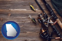 georgia fishing rods and reels