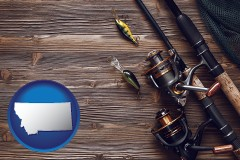 montana fishing rods and reels