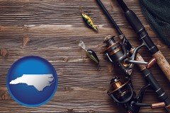 north-carolina fishing rods and reels