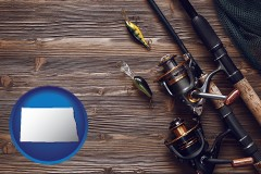 north-dakota fishing rods and reels