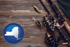 new-york fishing rods and reels