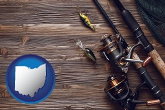 ohio fishing rods and reels