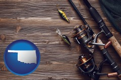 oklahoma fishing rods and reels