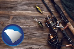 south-carolina fishing rods and reels