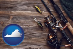 virginia fishing rods and reels