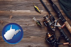 west-virginia fishing rods and reels